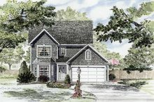 Colonial Exterior - Front Elevation Plan #316-252