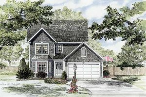 Home Plan - Colonial Exterior - Front Elevation Plan #316-252