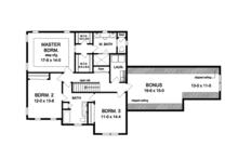 Traditional Floor Plan - Upper Floor Plan Plan #1010-128