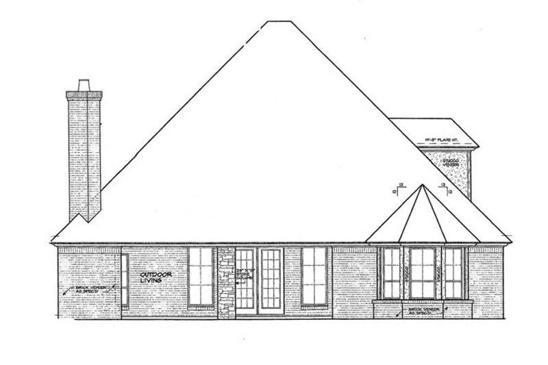 European Exterior - Rear Elevation Plan #310-1265 - Houseplans.com