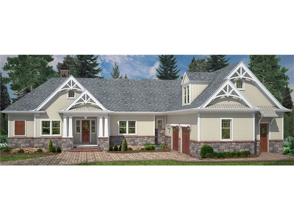 Craftsman style house plan 4 beds 3 5 baths 2251 sq ft for Craftsman style bed plans