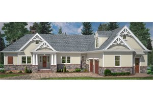 Craftsman Exterior - Front Elevation Plan #119-425