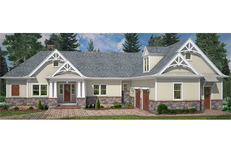 Dream House Plan - Craftsman Exterior - Front Elevation Plan #119-425
