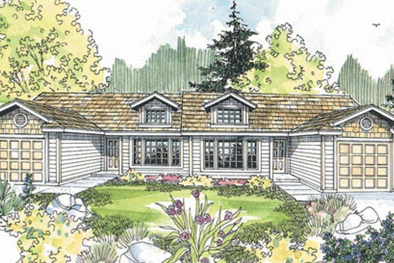 Dream House Plan - Exterior - Front Elevation Plan #124-806