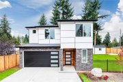 Contemporary Style House Plan - 4 Beds 2.5 Baths 2067 Sq/Ft Plan #1066-88 Exterior - Front Elevation