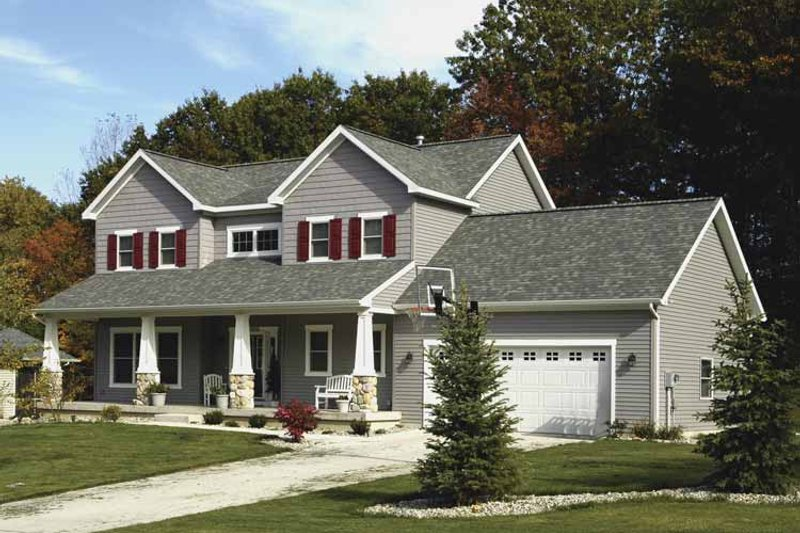 Craftsman Exterior - Front Elevation Plan #928-137