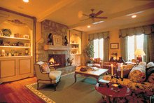 Country Interior - Family Room Plan #453-153