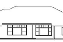Home Plan - Mediterranean Exterior - Rear Elevation Plan #124-751