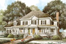 Home Plan Design - Country Exterior - Front Elevation Plan #429-345
