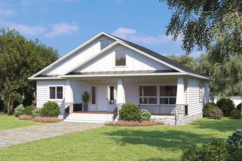 Architectural House Design - Farmhouse Exterior - Front Elevation Plan #1077-5