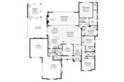 Mediterranean Style House Plan - 3 Beds 4.5 Baths 3394 Sq/Ft Plan #930-457 Floor Plan - Main Floor Plan