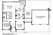 Modern Style House Plan - 4 Beds 3 Baths 3187 Sq/Ft Plan #70-1431 Floor Plan - Main Floor Plan