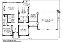 Modern Floor Plan - Main Floor Plan Plan #70-1431