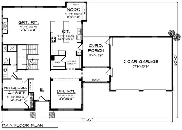 Modern Floor Plan - Main Floor Plan Plan #70-1431