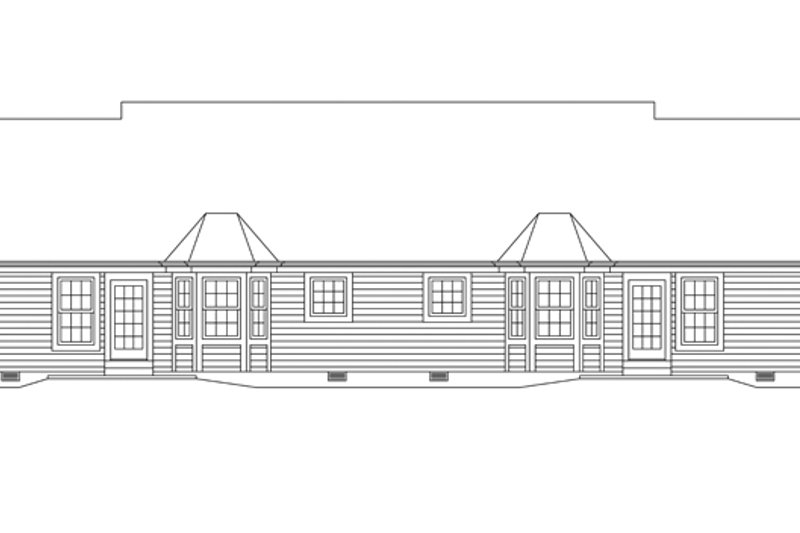 Colonial Exterior - Rear Elevation Plan #57-636 - Houseplans.com