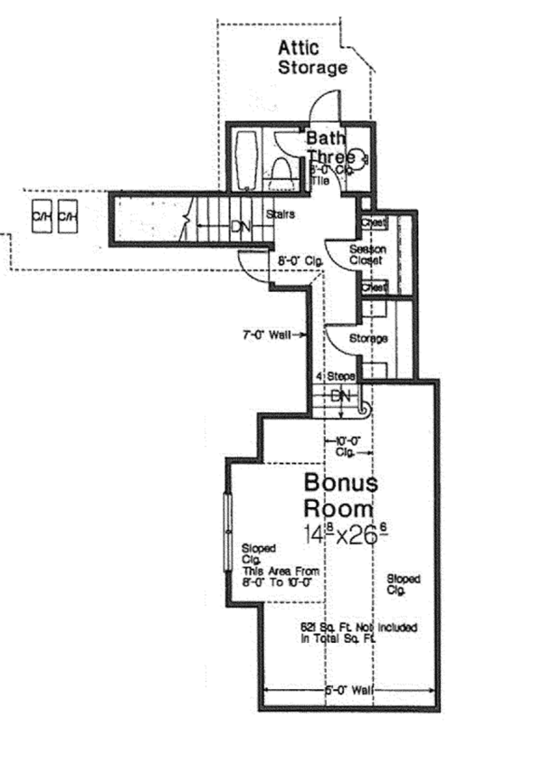European Floor Plan - Other Floor Plan Plan #310-1275