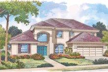 House Plan Design - Mediterranean Exterior - Front Elevation Plan #417-767