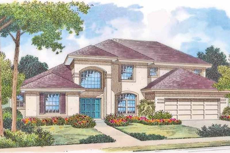 House Plan Design - Mediterranean Exterior - Front Elevation Plan #417-767