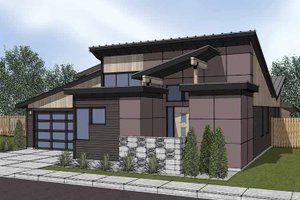Home Plan - Contemporary Exterior - Front Elevation Plan #569-6