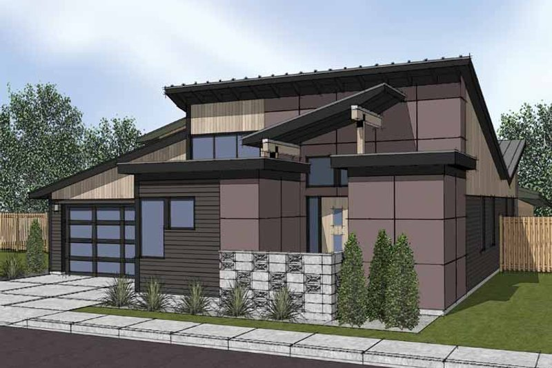 Contemporary Exterior - Front Elevation Plan #569-6 - Houseplans.com
