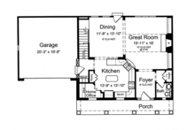 Country Floor Plan - Main Floor Plan Plan #46-845