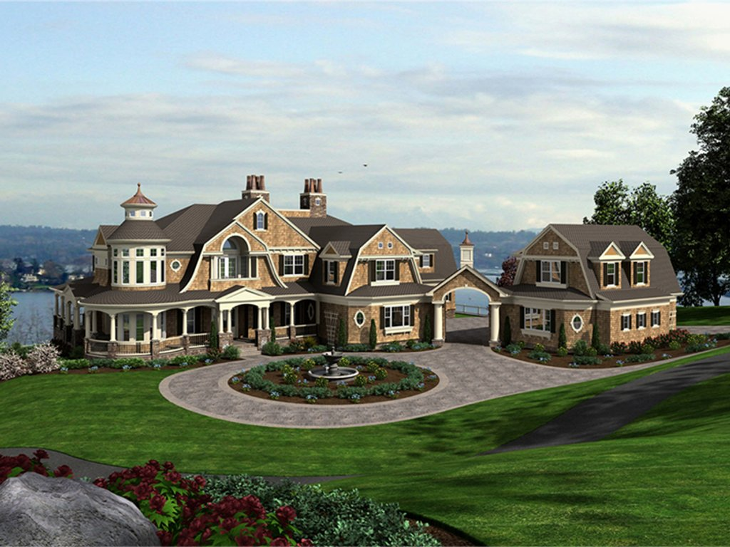 Craftsman style house plan 5 beds 5 baths 11000 sq ft for Craftsman vs mission style