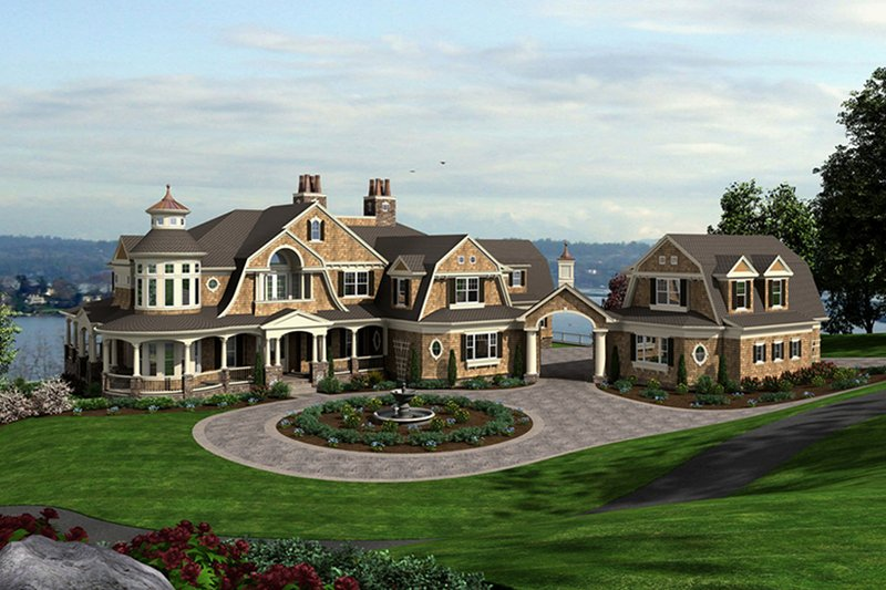 Craftsman style house plan 5 beds 5 baths 11000 sq ft for Houseplans com craftsman