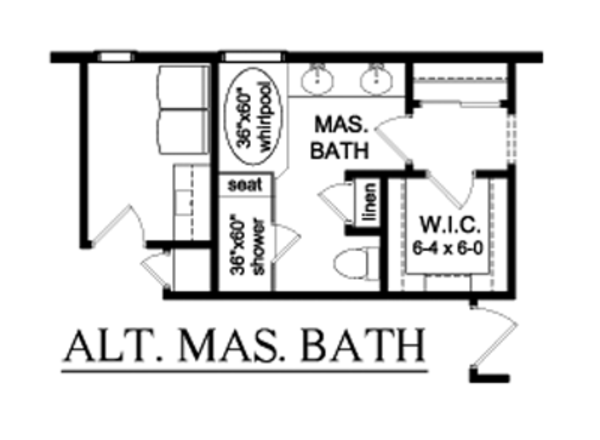 House Plan Design - Alternate Master Bath