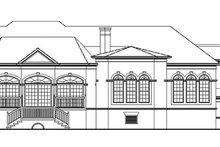 House Plan Design - Mediterranean Exterior - Rear Elevation Plan #54-187