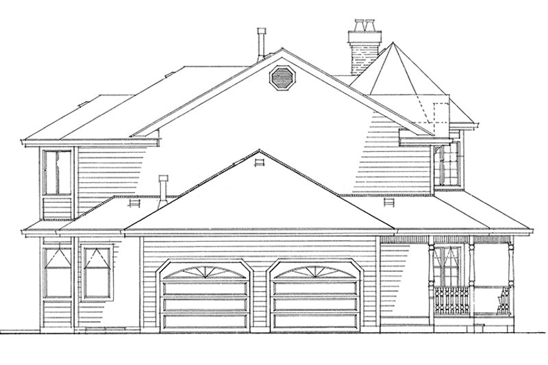 Victorian Exterior - Other Elevation Plan #47-852 - Houseplans.com