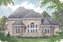 House Plan Design - Traditional Exterior - Rear Elevation Plan #453-516