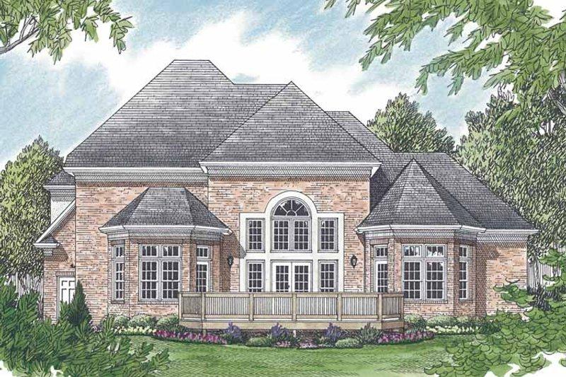 Traditional Exterior - Rear Elevation Plan #453-516 - Houseplans.com