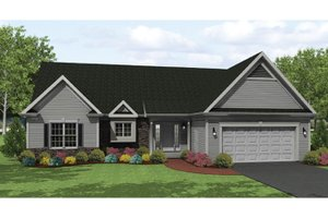 Ranch Exterior - Front Elevation Plan #1010-31