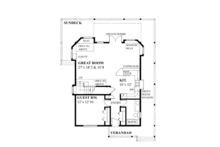 Contemporary Floor Plan - Main Floor Plan Plan #118-162