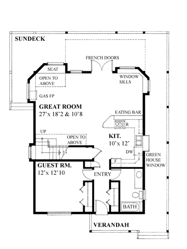 Contemporary Floor Plan - Main Floor Plan Plan #118-162