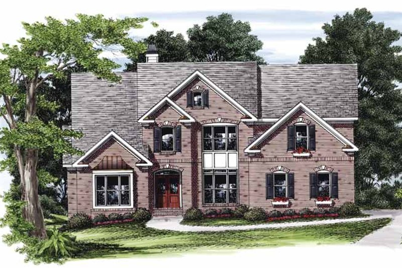 Colonial Exterior - Front Elevation Plan #927-825