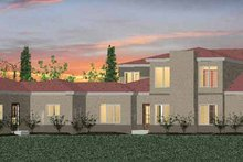 Mediterranean Exterior - Rear Elevation Plan #937-16