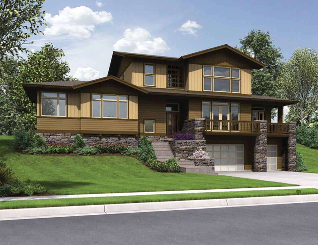 Craftsman style house plan 3 beds 2 5 baths 2754 sq ft for Www homeplans com