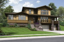 Architectural House Design - Craftsman Exterior - Front Elevation Plan #48-913