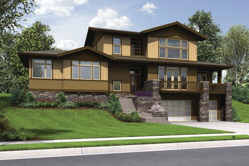 Architectural House Design - Craftsman Exterior - Front Elevation Plan #48-913