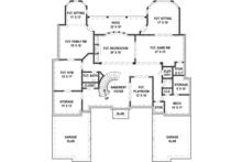 European Floor Plan - Lower Floor Plan Plan #119-423