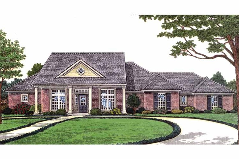 Country Exterior - Front Elevation Plan #310-1229