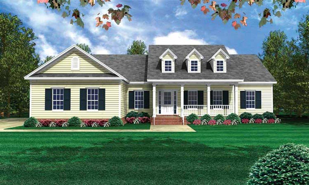 Country Style House Plan 3 Beds 3 Baths 1800 Sq Ft Plan 21 405 Builderhouseplans Com