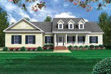 Dream House Plan - Country Exterior - Front Elevation Plan #21-405