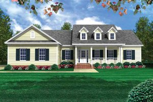 Country Exterior - Front Elevation Plan #21-405