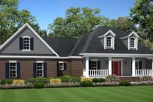 Ranch Exterior - Front Elevation Plan #21-437