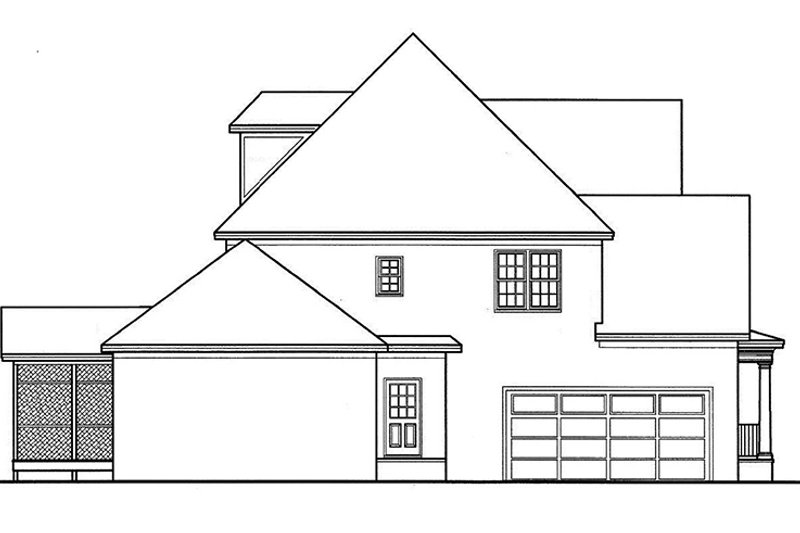 Country Exterior - Other Elevation Plan #977-13 - Houseplans.com