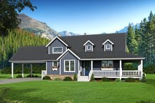 Country Exterior - Front Elevation Plan #932-268