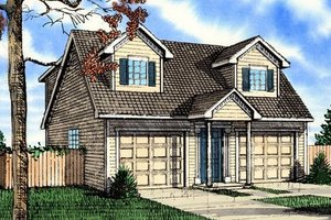 Home Plan - Colonial Exterior - Front Elevation Plan #405-151