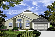 House Plan Design - Mediterranean Exterior - Front Elevation Plan #417-822